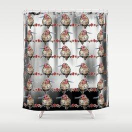 L'il Lard Butt Ruby Throated Hummingbird Shower Curtain
