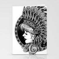 headdress Stationery Cards featuring Headdress by BIOWORKZ