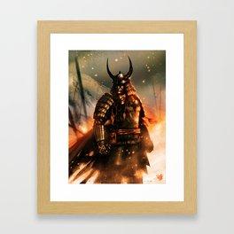 THE DARK KNIGHT OF THE SAMURAI AGE Framed Art Print