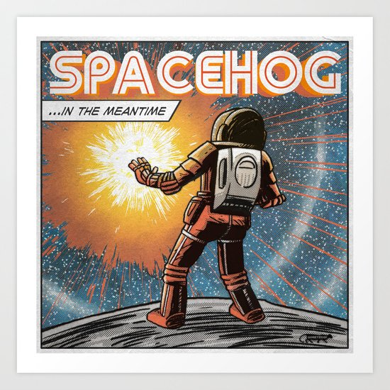 7 inch series: Spacehog - In the meantime Art Print