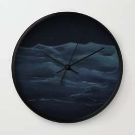 Dark Ocean Wall Clock