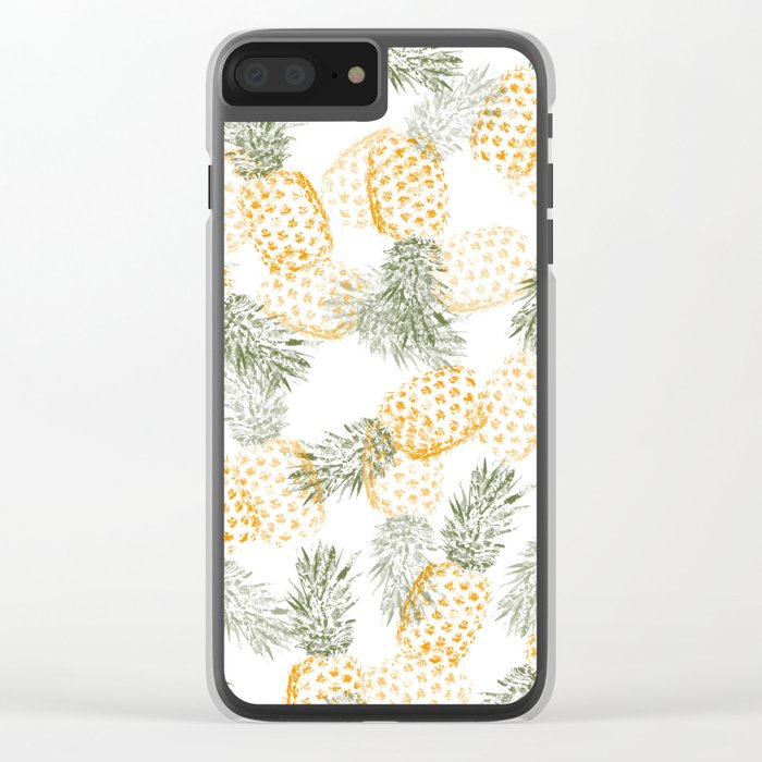 Pineapple mess Clear iPhone Case