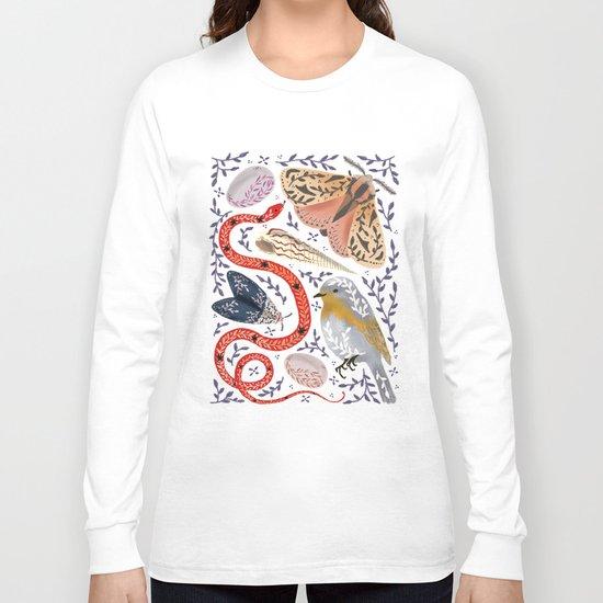 Fauna - biodiversity illustration Long Sleeve T-shirt