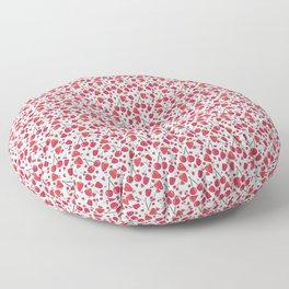 Fruit Salad - Red Berries Floor Pillow