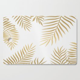 Gold palm leaves Cutting Board