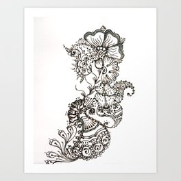 13. Paisley Henna Flower in the Wind Art Print