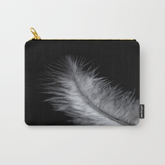 feather in white Carry-All Pouch