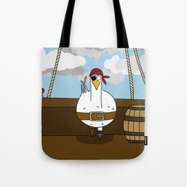 Eglantine la poule (the hen) disguised as a pirate. Tote Bag
