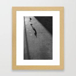 Skateboarding Porto Framed Art Print