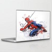 spider man Laptop & iPad Skins featuring Spider-Man  by Isaak_Rodriguez