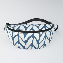 Hand Knitted Navy Fanny Pack