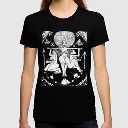 2013 Goddess of Balance (white design) art by Marcellous Lovelace T-shirt