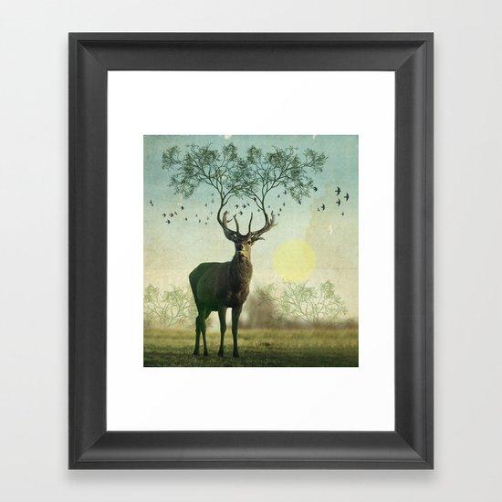 Evergreen Stage Horn Framed Art Print