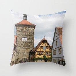 Rothenburg ob der Tauber Impression Throw Pillow