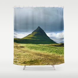 Icelandic small volcano Shower Curtain