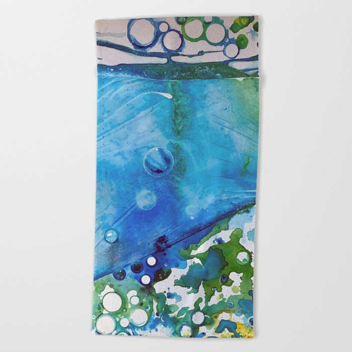 Ice Caps, Ice Bubbles, Environment Beach Towel