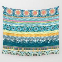 Blue Streaks Wall Tapestry