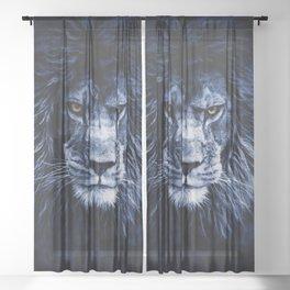 PANTHERA LEO Sheer Curtain