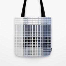 white blue plaid Tote Bag