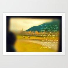Traveling Inspiration  Art Print