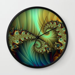 Another Secret Place abstract Fractal Art Wall Clock