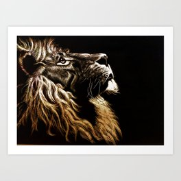 Lion Profile Art Print