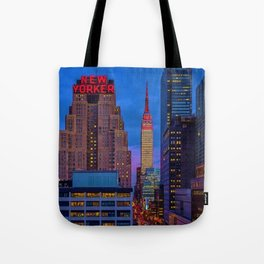 The New Yorker, 481 8th Ave, New York, NY, A Portrait by Jeanpaul Ferro Tote Bag