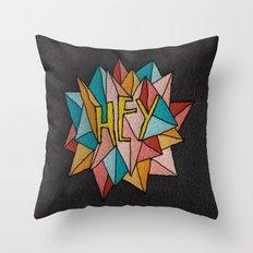 HEY Throw Pillow
