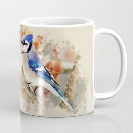Watercolor Blue Jay Art Coffee Mug