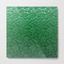 Moss Green Fairy Forest Texture Metal Print