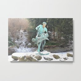 The Fisherman And The Mermaid Metal Print