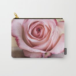 Pink rose and golden ribbon Carry-All Pouch