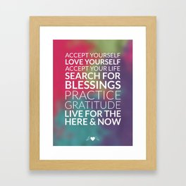 Recipe for Joy Inspirational Quote Framed Art Print