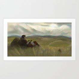 The Wastelands Fields Art Print