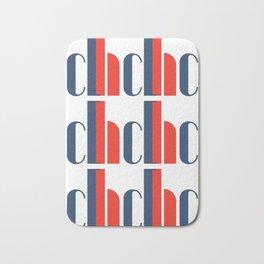 Bauhaus Joschmi Xants Repetition Font Art Bath Mat