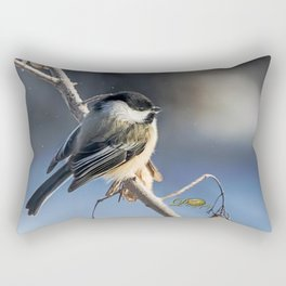 Christmas Chickadee II Rectangular Pillow