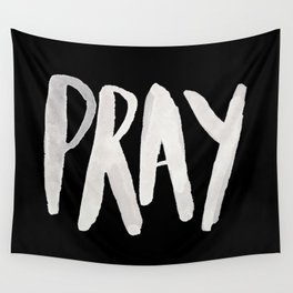Pray Typography II Wall Tapestry