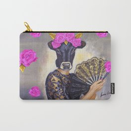 Flamenco-dancer with hand fan Carry-All Pouch