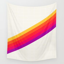 VHS Rainbow 80s Video Tape Wall Tapestry