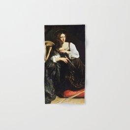 Saint Catherine of Alexandria by Caravaggio (c 1598) Hand & Bath Towel