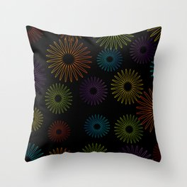 Colorful Christmas snowflakes pattern- holiday season gifts- Happy new year gifts Throw Pillow