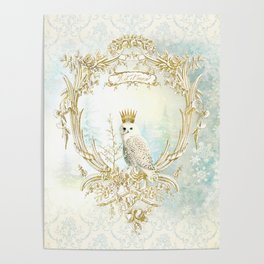 Owl Let it Snow Poster