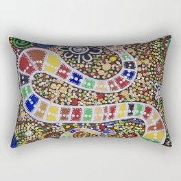 THE RAINBOW SERPENT Rectangular Pillow