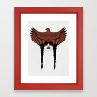 Dark Cardinal Framed Art Print