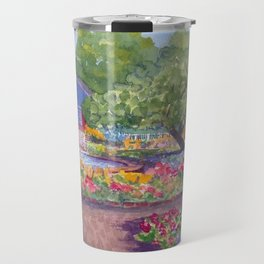 Prescott Park Portsmouth NH Watercolor Travel Mug