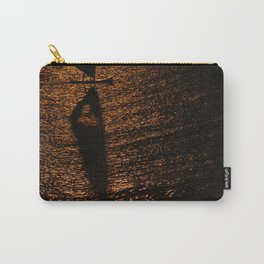 Silhouette of a windsurfer Carry-All Pouch