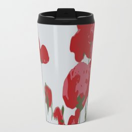 Poppy Field Of Remembrance Vector Travel Mug