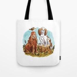 Cocker Spaniel + King Charles Spaniel Tote Bag