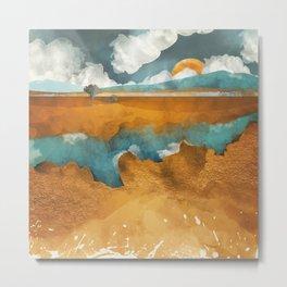 Desert River Metal Print