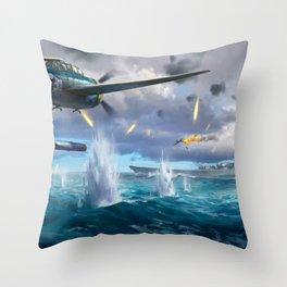 Naval Battle Throw Pillow